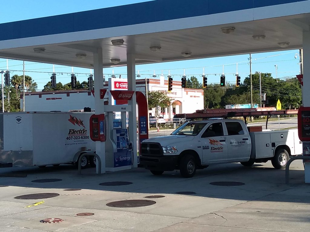 Gas Canopy and Dispenser at Rally in Seminole, FL
