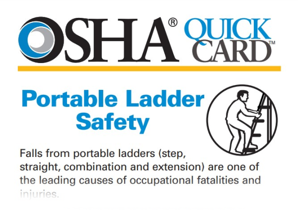Safety: OSHA Ladder Safety Quick Card (Screenshot)